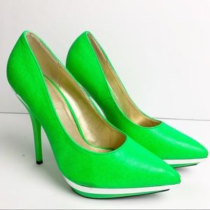 Shoe Republic Neon Green High Heel Shoes